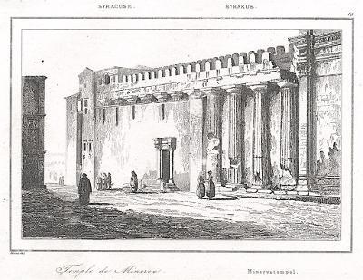 Syracus Minerva, Le Bas, oceloryt 1840
