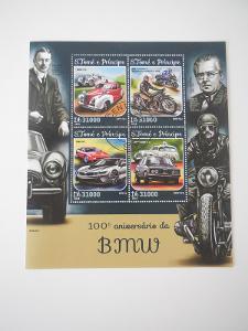 Aršík známek vydaný k 100. výročí BMV.