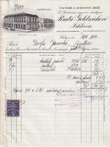 Účet pletené zboží Goldreichové, Jihlava