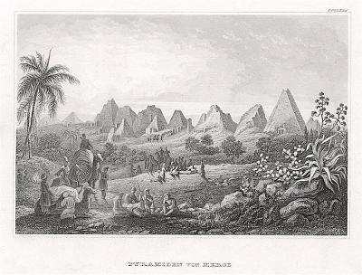 Meroe Sudan, Meyer, oceloryt, 1850