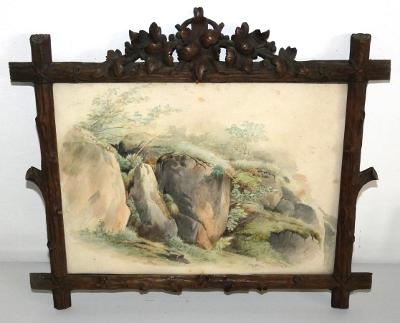 Obraz akvarel lesní zátiší