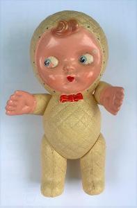 Stará hračka pro děti PANENKA - batole, novorozeně - dítě