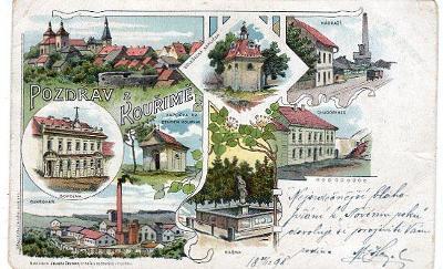 KOUŘIM DA NÁKL. J. ZELINKY  CaK DVORNÍ LITOGRAFIE A. HAASE PRAHA 1898