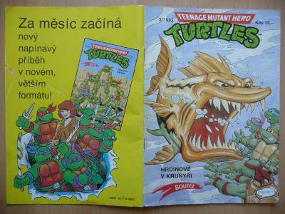 Teenage Mutant Hero Turtles - číslo 3 z roku 1992 - Hrdinové v krunýři