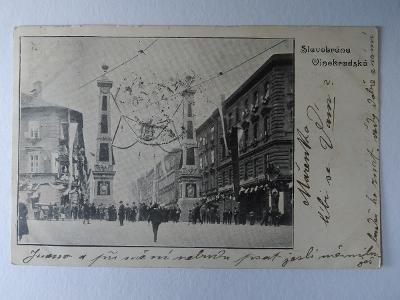 Pohlednice Dopisnice Praha Vinohrady Slavobrána Vinohradská 1901 MF