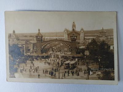 Pohlednice Praha Holešovice Výstaviště Autobusy 1924 MF