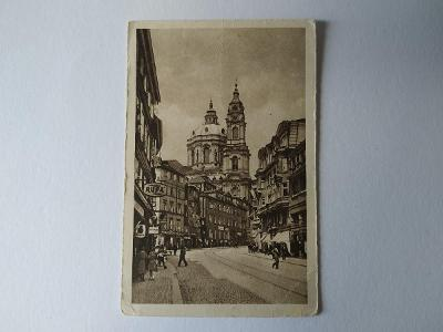 Pohlednice Praha Chrám sv. Mikuláše Oživená Reklama RUPA MF