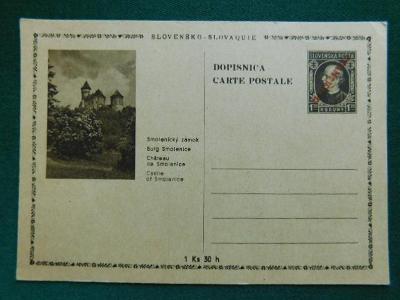 1945 - Dopisnice - Smolenický Zámok - Slovensko