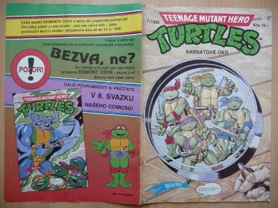 Teenage Mutant Hero Turtles - číslo 7 z roku 1992 - Sarnatové oko II.