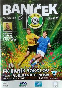 fotbalový program Baník Sokolov - FC Sellier-Bellot Vlašim (2016)