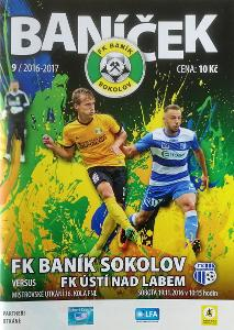 fotbalový program Baník Sokolov - FK Ústí nad Labem (2016)