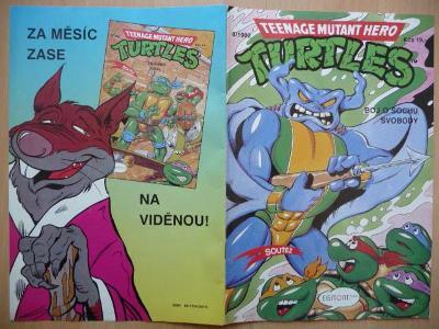 Teenage Mutant Hero Turtles - číslo 8 z roku 1992 - Boj o Sochu Svobod