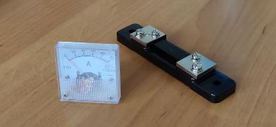 50A DC analogový ampérmetr