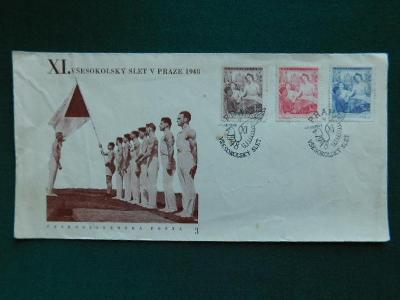 Dopis  - XI.Všesokolský Slet v Praze - 1948 - Praha