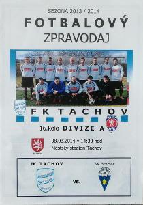 fotbalový program FK Tachov - SK Benešov (2014)