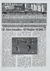 fotbalový program Jiskra Domažlice - MFK Chrudim (2014)