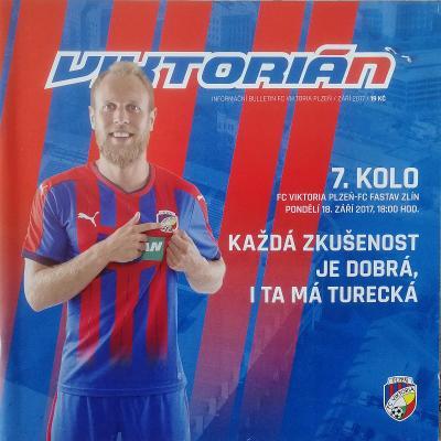 fotbalový program Viktoria Plzeň - Fastav Zlín (2017)
