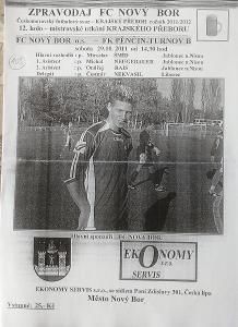 fotbalový program FC Nový Bor - FK Pěnčín-Turnov (2011)