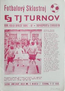 fotbalový program TJ Turnov - Transporta Chrudim (1981)