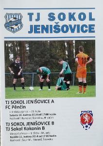 fotbalový program Sokol Jenišovice - FC Pěnčín (2014)