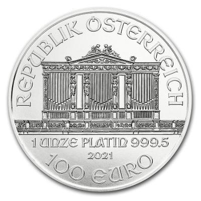platinová mince Wiener Philharmoniker 1oz v kapsičce