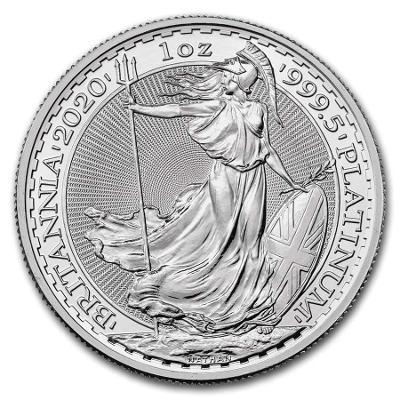 platinová mince Britannia 1oz v kapsičce