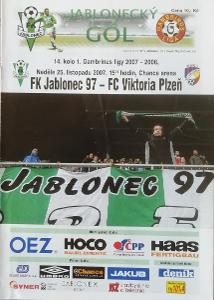 fotbalový program FK Jablonec - Viktoria Plzeň (2007)