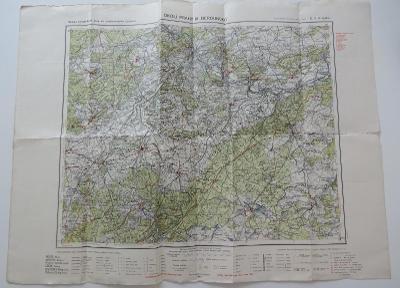 Mapa Okolí Prahy, Berounsko z r. 1940