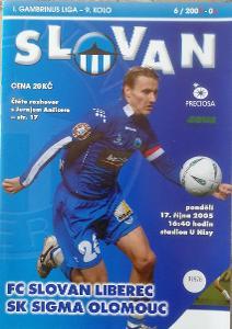 fotbalový program Slovan Liberec - Sigma Olomouc (2005)