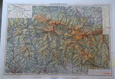 Mapa Krkonoš - V. Neubert a synové - 1946