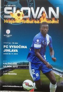 fotbalový program Slovan Liberec - Vysočina Jihlava (2014)