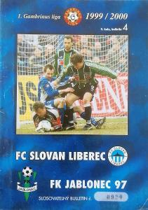 fotbalový program Slovan Liberec - FK Jablonec (1999)