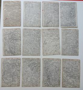 Konvolut vojenských map - 1927