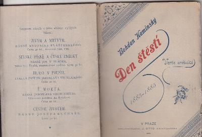 DEN ŠTĚSTÍ-VERŠE EROTICKÉ 1890
