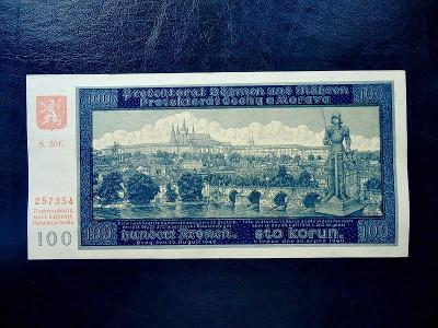 100 korun 1940 Serie  20 G NEPERFOROVANA LUXUSNI Stav