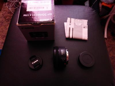 Objektiv Canon EF 50 mm f/1.8 STM  ,záruka 10 měsícu