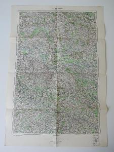 Stará vojenská mapa Kolín