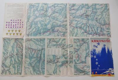 Lyžařská mapa Krkonoš - 1960