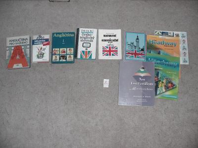 angličtina slovníky slovíčka konvolut knih 9 ks