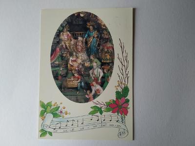 Pohlednice Noty Písnička Koleda Betlém Muzeum Vrchlabí Vánoce Vánoční