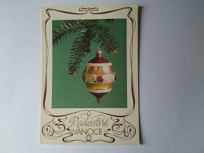 Pohlednice Ozdoba Baňka Větvička Vánoce Vánoční