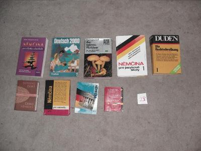 němčina učebnice slovníky slovíčka konvolut knih 9 ks