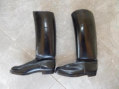 Jezdecké starožitné boty téměř nepoužité - vel. 29 cm, cca vel.  9