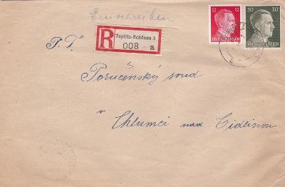 Sudety, R- Teplice 1943 - Chlumec nad Cidlinou (Hradec Králové), bez
