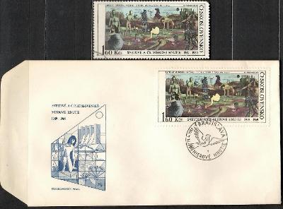 V9004   - FDC obálka prvního dne vydání + známky navíc