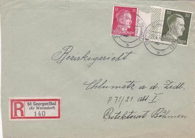 Sudety, R- Jiřetín pod Jedlovou 1942 (Varnsdorf, Děčín)-Chlumec n. C.,