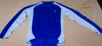 Cyklistika triko modrobílé