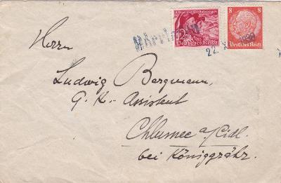 Sudety, Pernink 22.12.1938 (Karlovy Vary) - Chlumec n C., Hradec Král.
