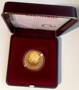 RRR!! sběr. vzácná zlatá mince Uvítání roku 2000 PROOF 300 kusů!