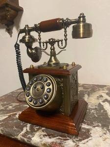 TOP NÁDHERNÝ STARÝ TELEFON (DEKORACE/FUNKČNÍ) R. 1960